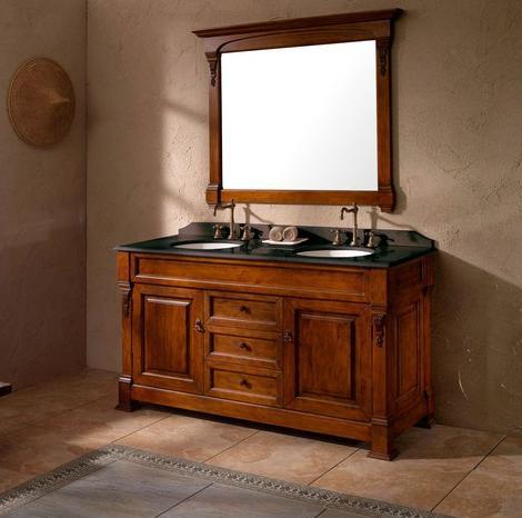 Solid wood bathroom vanities from james martin furniture - 60 inch unfinished bathroom vanity ...