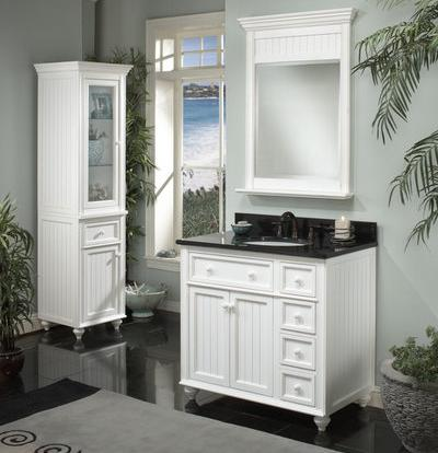 Bathroom Vanities on Beadboard Bathroom Vanities   A Cottage Style For A Larger Bathroom