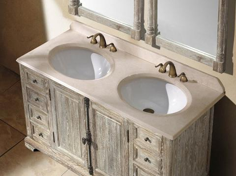 Awesome Dark Grey Weathered Wooden Floors Work Perfect For A Rustic Bathroom
