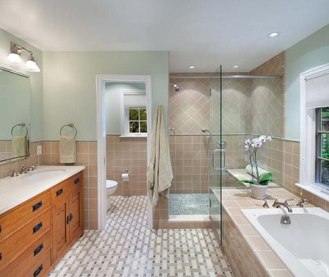Adding privacy to your master bathroom or how to hide for Bathroom design 6 x 7