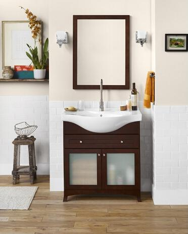 Narrow bathroom vanities a simple solution for a small for Bathroom vanities for small spaces