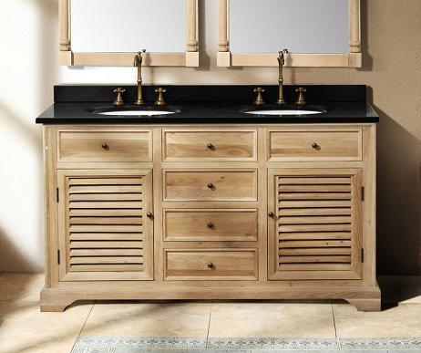 Simple Natural Wood Bathroom Vanity Wood Bathroom Storage Cabinet