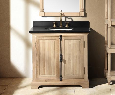 Model  Vessel Sink Bathroom Vanity In Natural Wood  Vanity Top Included