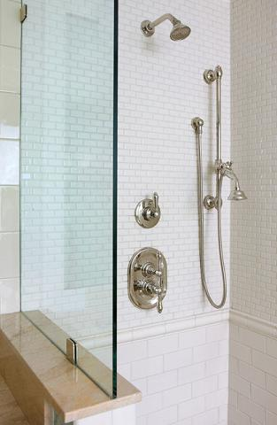How to use a tile border to dress up your shower tile - Different showers ...