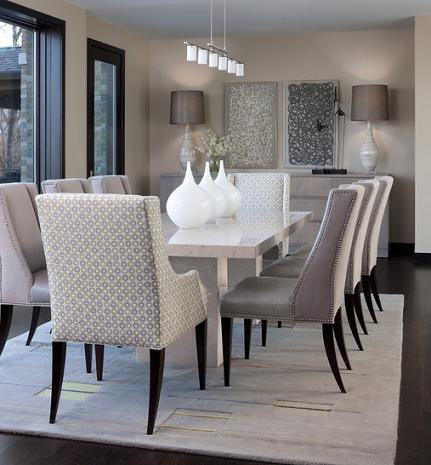 Contemporary classic dining sets updated antiques for a modern home - Stylish modern dining sets for neutral toned interior ...