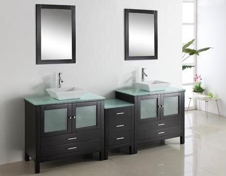 Storage Smart Modern Double Bathroom Vanities For A Master Bathroom