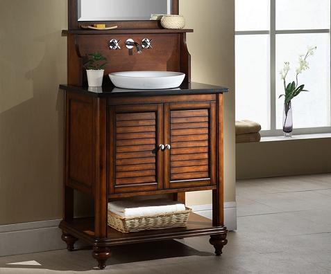 Shuttered Bathroom Vanities For A Traditional Cape Cod