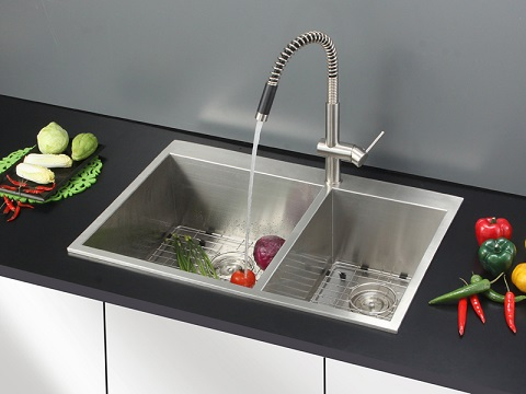 Tirana Stainless Steel Kitchen Sink And Faucet Set RVC2409 From Ruvati