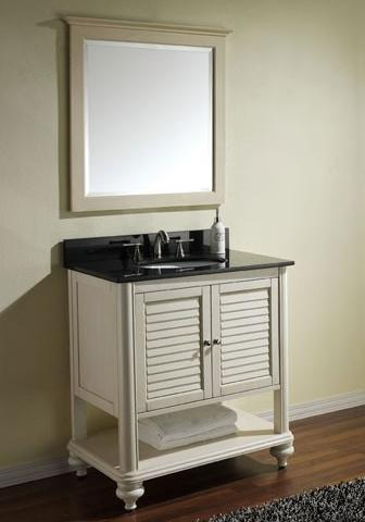Shuttered Bathroom Vanities For A Traditional Cape Cod Style Bathroom