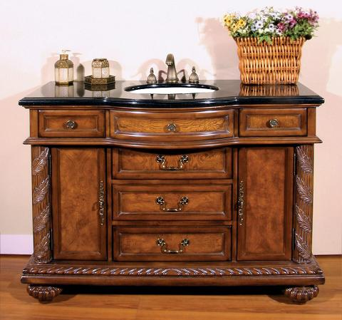 Storage smart antique bathroom vanities for a large bathroom for Antique bathroom vanity units