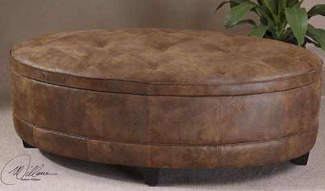 Storage ottomans a place to put your feet and also your for Where to put ottoman