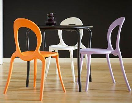 Cute colorful retro dining chairs for a casual eclectic for Cute side chairs