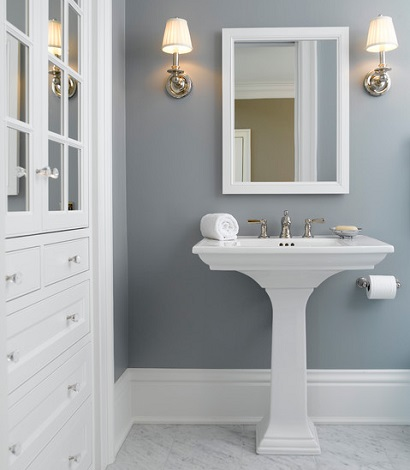 Pedestal Sink With Counter Space : Limited Counter Space Means Limited Clutter And A Simple, Clean ...