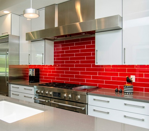 red tile backsplashes are bold and assertive one of the easiest ways
