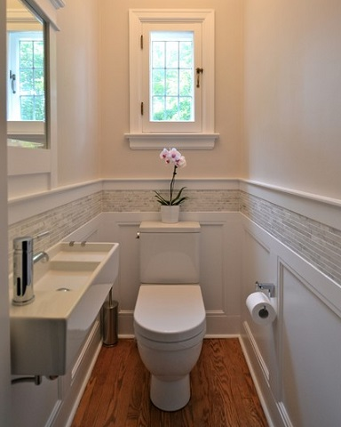 Simple ways to add a half bathroom and what to consider before you start for Very small sinks for small bathroom
