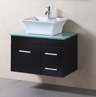 madrid 30 wall mounted bathroom vanity with vessel sink from design
