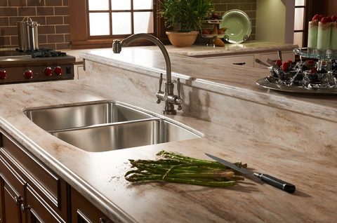 Countertop Material Alternatives : Solid surface countertops can mimic the appearance of stone without ...