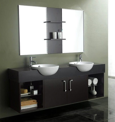 dressing up a modern bathroom vanity with a unique, stylish sink