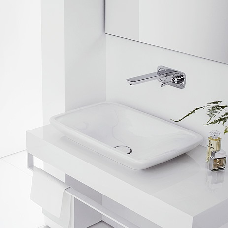 puravida wall mounted single handle faucet from hansgrohe
