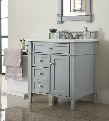 "Brittany 30"" Single Bathroom Vanity in Urban Gray 650-V30-UGR from James Martin Furniture"