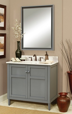 Gray Shaker Style Bathroom Vanities A Hot Bathroom Trend