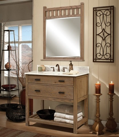 Natural Wood Bathroom Vanities To Complete A Spa Style Bathroom Remodel