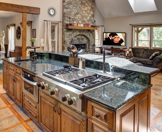 Building a custom kitchen island to enhance your kitchen for Built in kitchen islands