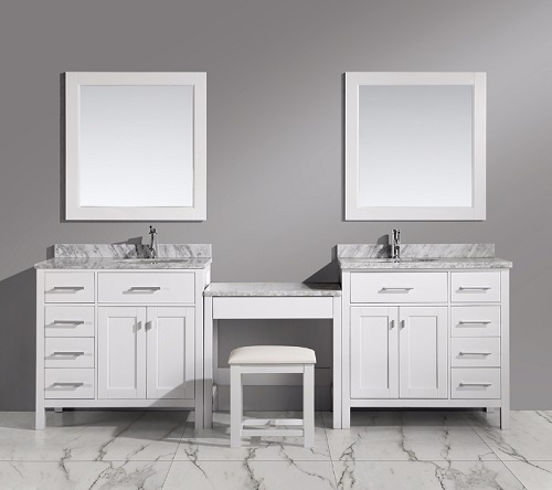 Stunning 10 Double Bathroom Vanity With Makeup Station Decorating Inspiration Of Best 25