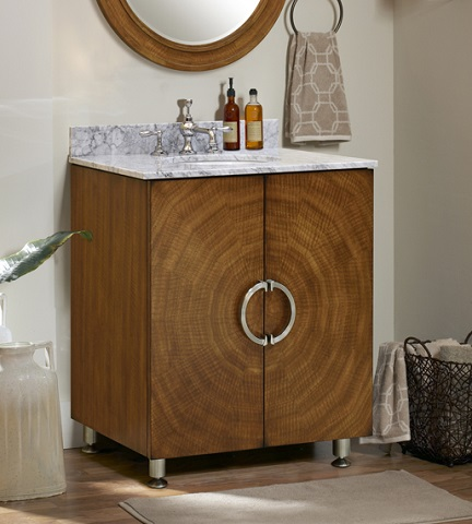 Decorative Drawer Pulls Dress Up A Simple Contemporary Bathroom Vanity