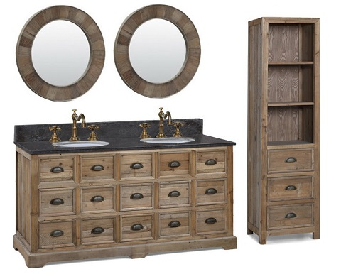 brookfield 72 double bathroom vanity with cabinet in cottage white