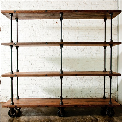 How To Build A Bookcase Wall Unit Industrial Style Bookshelves For A Simple, Contemporary ...