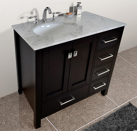 Bathroom Vanities With Offset Sinks: A Simple Way To Avoid ...