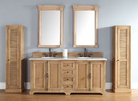 Unfinished solid wood bathroom vanities from james martin furniture for Unfinished bathroom vanities and cabinets