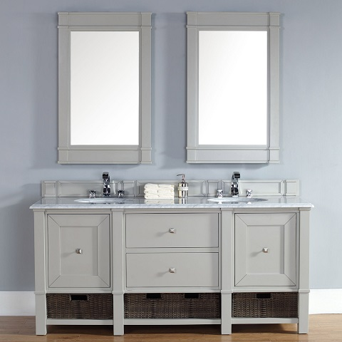 Trendy gray bathroom vanities for any style bathroom for Grey bathroom cupboard