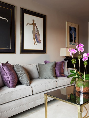 amusing purple living room decorating ideas | Top Color Trends For 2015 - A Cheat Sheet To Popular Palettes