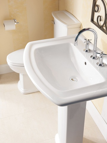 Small Bathroom Solutions Pedestal Sinks