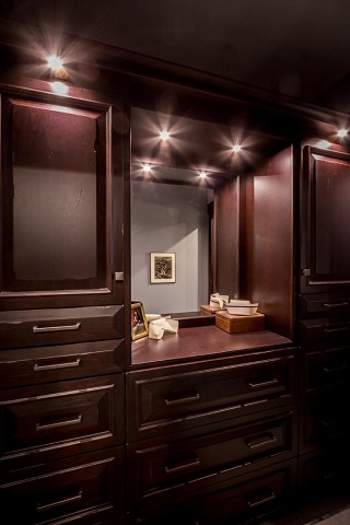 Closet lights are particularly useful for illuminating custom built closet organizers, keeping each of the individual compartments well-lit and visible