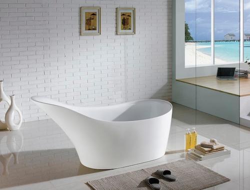 """Victorian 67"""" Free Standing Bathtub, KFST1067 by KubeBath"""