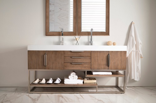 "Columbia 72"" Double Bathroom Vanity 388-V72-LTO-A from James Martin Furniture"