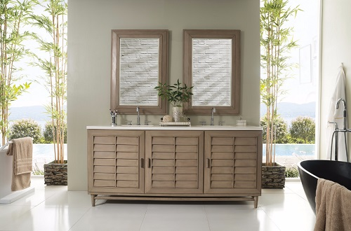 "Portland 72"" Double Bathroom Vanity 620-V72-WW from James Martin Furniture"