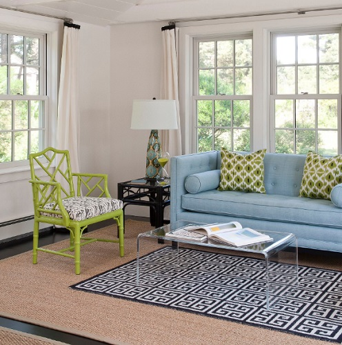 Though it stands out by itself, bamboo weaves itself seamlessly into a living room setting. (By Annsley Interiors)