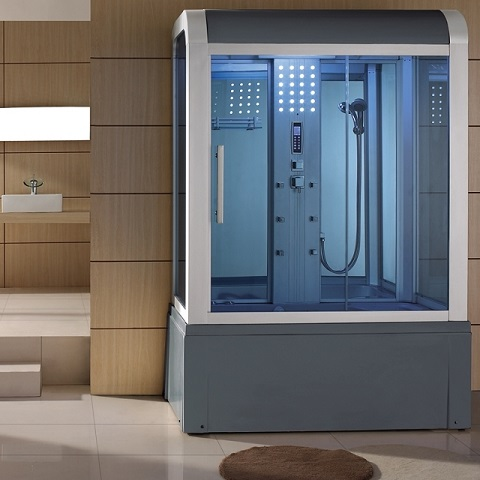 "59"" Eagle Bath WS-501 Steam Shower with Whirlpool Bathtub"