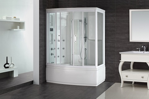 "Aston Global ZAA208 86"" Steam Shower Whirlpool Bath With 9 Body Jets"