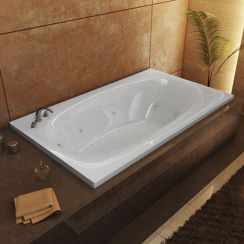 "Polaris 66"" Rectangular Soaking Bathtub From Atlantis"