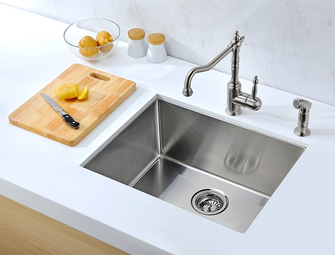 Vanguard Undermount Single Basin Kitchen Sink K-AZ2318-1 from Anzzi