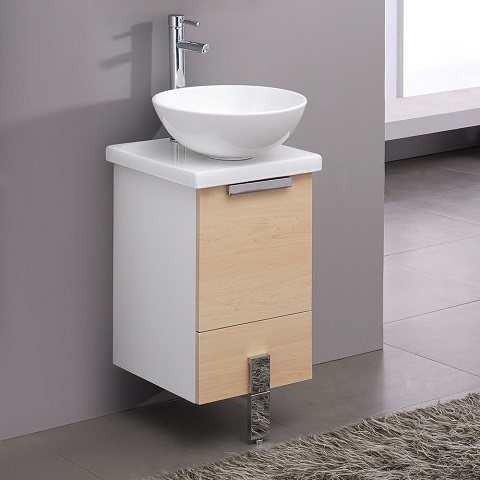 "Adour 16"" Modern Bathroom Vanity Cabinet FCB8110LT-CWH-V from Fresca"