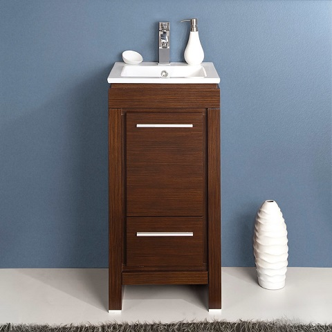 "Allier 16"" Wenge Bathroom Vanity Cabinet FCB8118WG-I from Fresca"