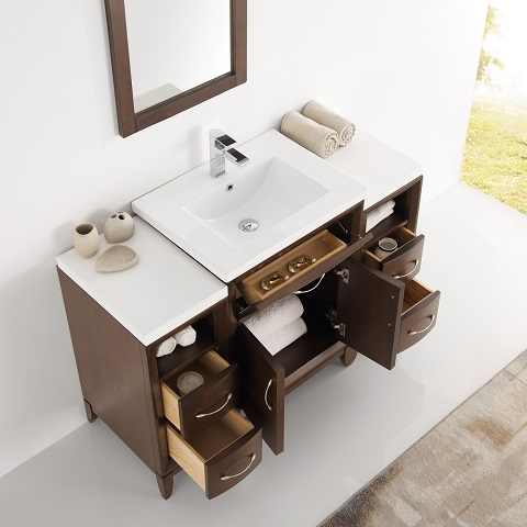 "Cambridge 48"" Traditional Bathroom Vanity in Antique Coffee FVN21-122412AC from Fresca"