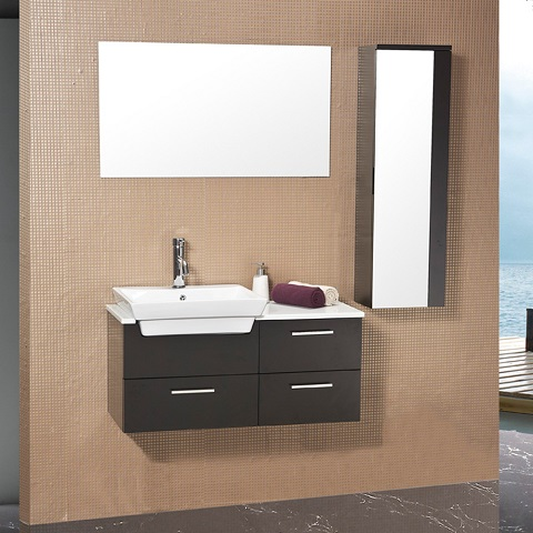 "Caro 36"" Espresso Bathroom Vanity With Side Cabinet FVN6163ES from Fresca"