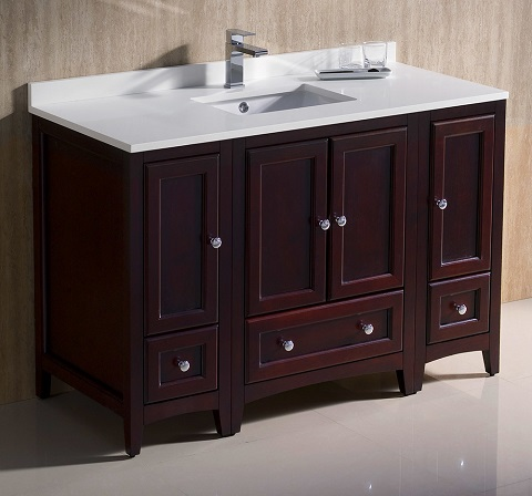 "Oxford 48"" Mahogany Bathroom Vanity Cabinet FCB20-122412MH from Fresca"